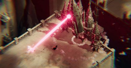 Achtung, übler Laserstrahl. Da macht die kleine Krähe besser einen Bogen drum.