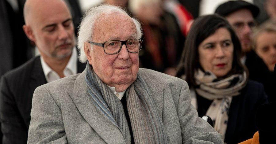Kunstsammler Heiner Pietzsch im Dezember 2019 beim Spatenstich für das Berliner Museum der Moderne.