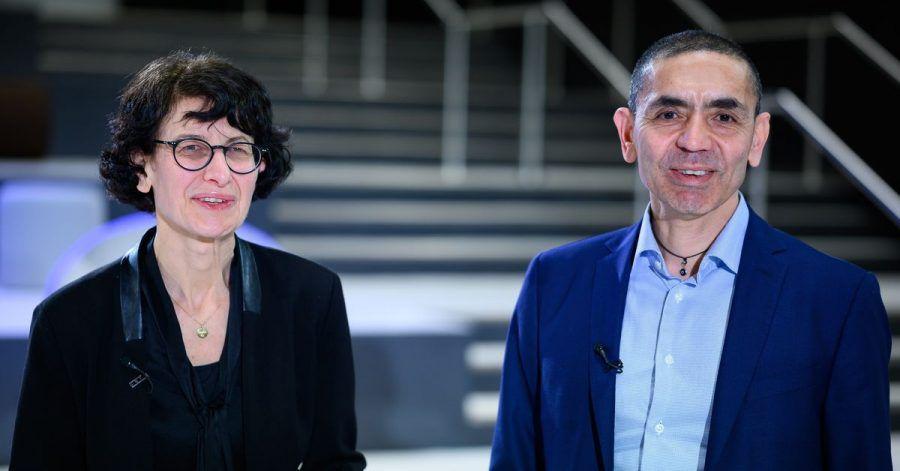 Ugur Sahin und seine Frau Özlem Türeci, die Gründer des Mainzer Corona-Impfstoff-Entwicklers Biontech.