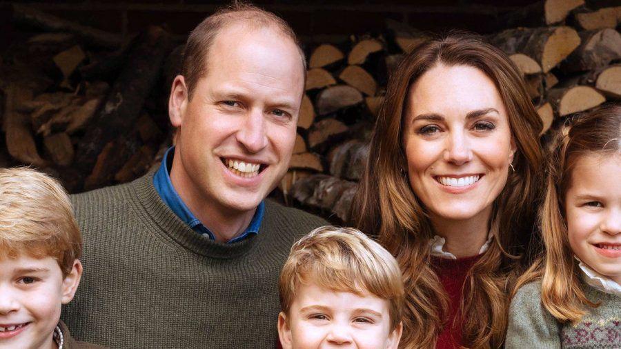 Die Cambridges: Prinz William und Herzogin Kate mit den Kindern George (l.), Louis und Charlotte. (stk/spot)
