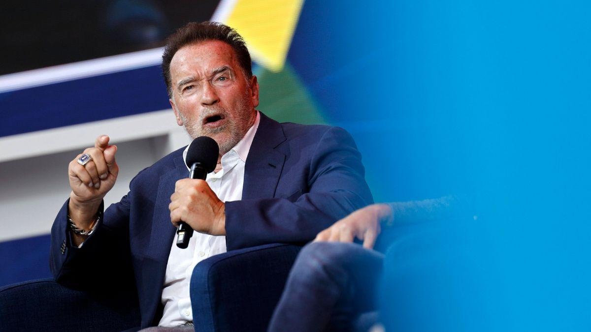 Arnold Schwarzenegger in Köln: Er möchte die Welt zum Umdenken bewegen