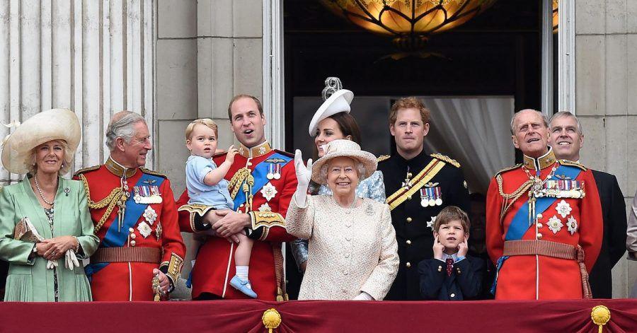 Mitglieder der britischen Königsfamilie im Jahr 2015.