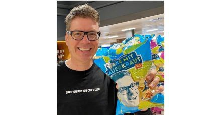 Oliver Numrich hat für Oktoberfest-Fans Chips der Geschmacksrichtung «Haxe mit Sauerkraut» entwickelt.