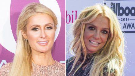 Paris Hilton (l.) freut sich für Britney Spears. (tae/spot)