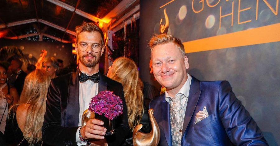 Show-König feiert mit Internet-Köng auf der Aftershowparty:Joko Winterscheidt und  Jens «Knossi» Knossalla