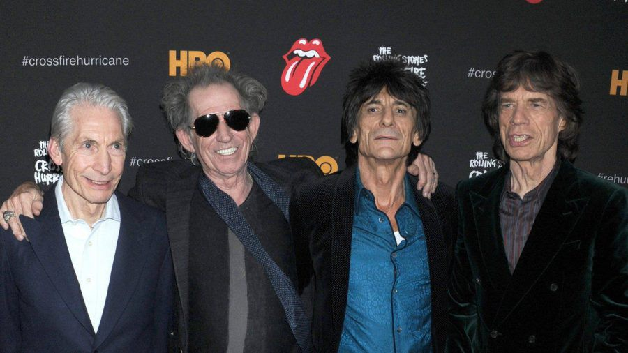 The Rolling Stones bei einem Auftritt in New York. (hub/spot)