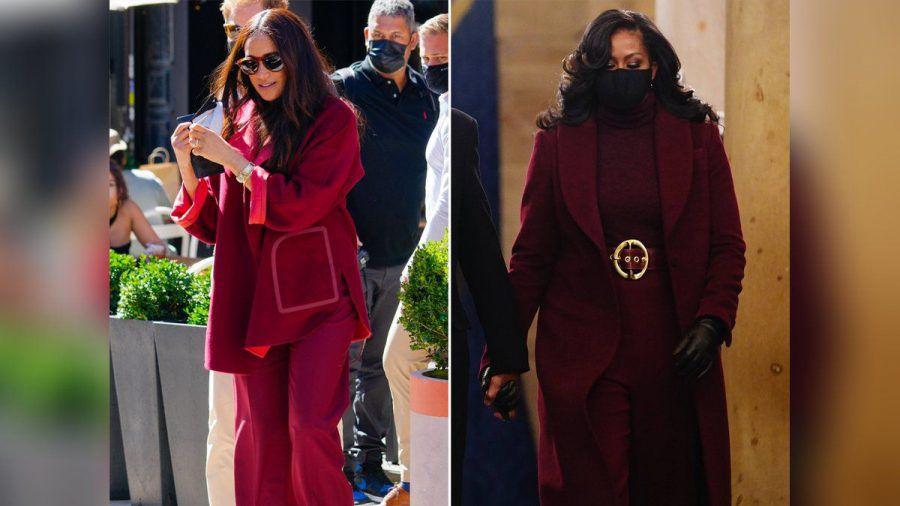 Herzogin Meghan am Freitag (24. September) in New York und Michelle Obama im Januar in Washington D.C.. (aha/spot)