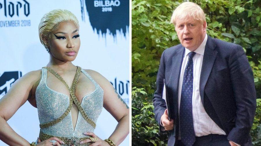 Nicki Minaj zofft sich heftig mit Boris Johnson