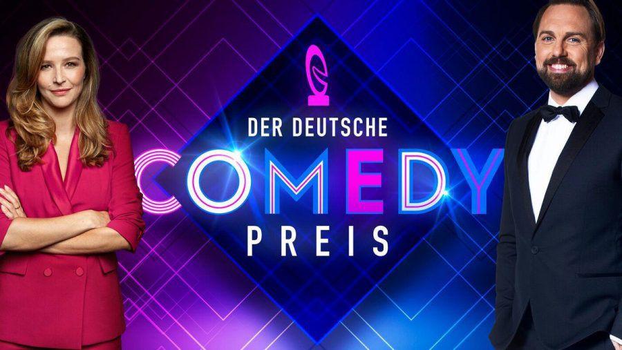 Katrin Bauerfeind und Steven Gätjen moderieren den Deutschen Comedypreis 2021. (hub/spot)