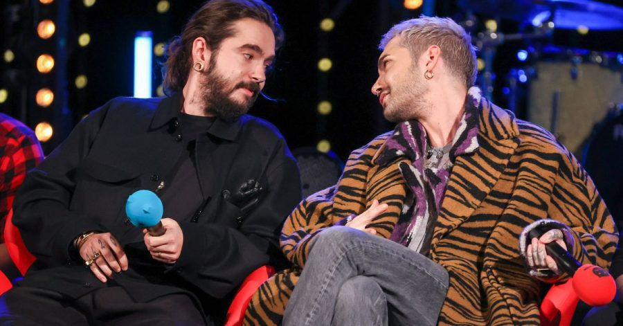 """Tom (l) und Bill Kaulitz bei der  Radioshow """"Friends of 2020"""" des Senders MDR Sputnik."""