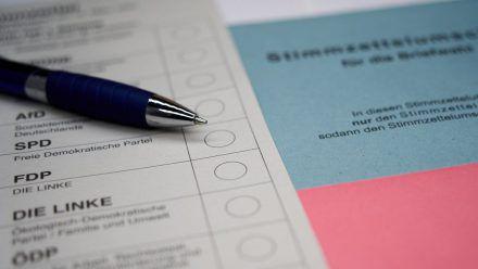 Briefwahlunterlagen für die Bundestagswahl können auch recht kurzfristig beantragt werden. (mia/spot)