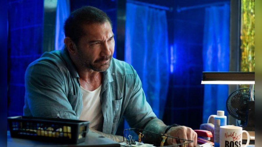 """""""Stuber - 5 Sterne Undercover"""":  Vic Manning (Dave Bautista) sucht den Mörder seiner Partnerin. (cg/spot)"""