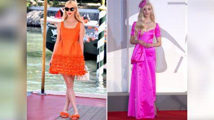 Anya Taylor-Joy in Orange und Pink (jom/spot)