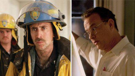 "Links: Nicolas Cage in ""World Trade Center"", rechts Tom Hanks in ""Extrem laut & unglaublich nah"". (stk/spot)"