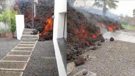 Traurige Bilder: Menschen auf La Palma retten, was zu retten ist