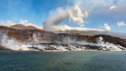 Die Lava-Hölle La Palma ist jetzt um rund 14 Fußballfelder gewachsen