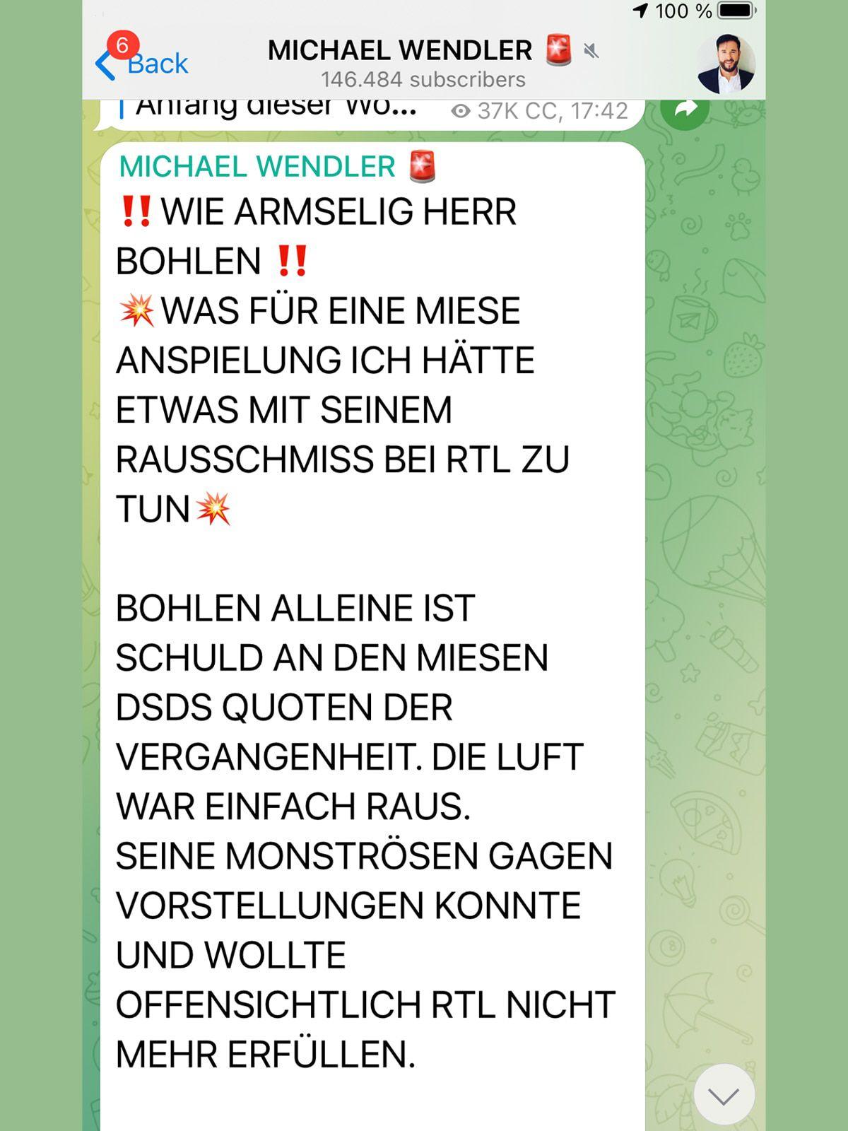 Michael Wendler feuert gegen Dieter Bohlen und RTL