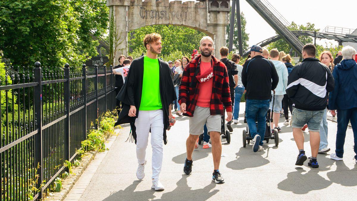 Sam Dylan und Rafi Rachek nach Umzugsstress im Heide Park