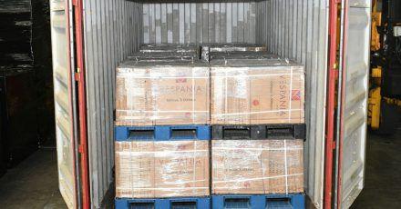 450 Kilogramm Heroin waren in einem Container mit Fliesen versteckt.