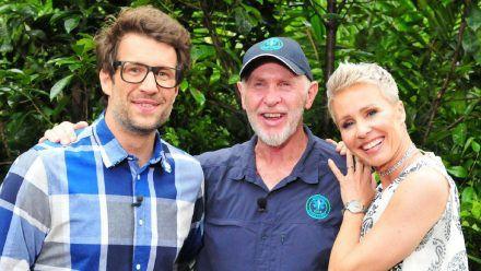 Daniel Hartwich (l.), Dr. Bob und Sonja Zietlow sind die Stars des Dschungelcamps - auch 2022. (hub/spot)