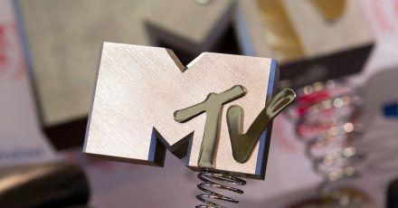 Eine Trophäe der MTV Europe Music Awards (EMA).