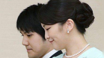 Mako mit ihrem Ehemann Kei Komuro. (hub/spot)