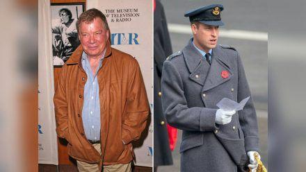 William Shatner (l.) und Prinz William haben in Sachen Weltall-Flügen unterschiedliche Auffassungen. (dr/spot)