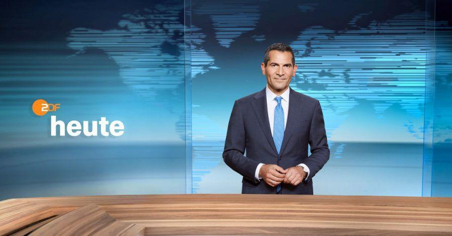 Der ZDF-Moderator Mitri Sirin im Studio der 19-Uhr-«heute»-Sendung.