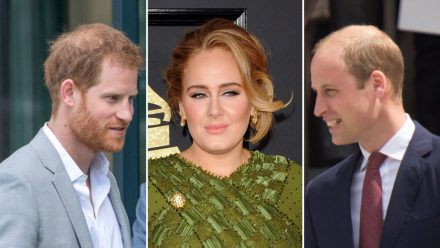 Entscheidet sich Adele für Prinz Harry (l.) oder Prinz William? (wue/spot)