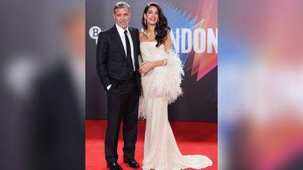 George Clooney und seine Frau Amal am Sonntag beim Londoner Filmfestival. (ili/spot)