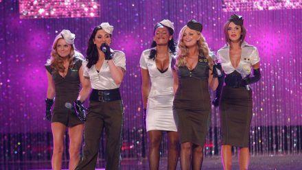 Die Spice Girls, hier bei der Victoria's Secret Show 2007: Geri Halliwell, Mel C, Mel B, Emma Bunton und Victoria Beckham (v.l.). (ncz/spot)