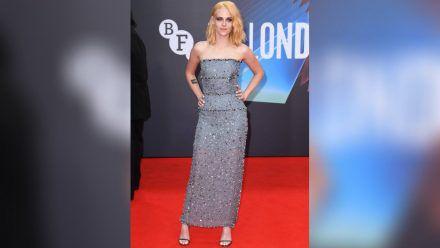 """Kristen Stewart bei der Premiere des Prinzessin-Diana-Biopics """"Spencer"""" beim BFI London Film Festival. (ili/spot)"""