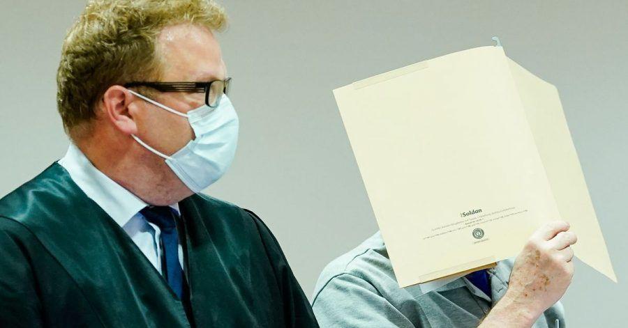 Der Angeklagte Anfang September im Landgericht Heidelberg.