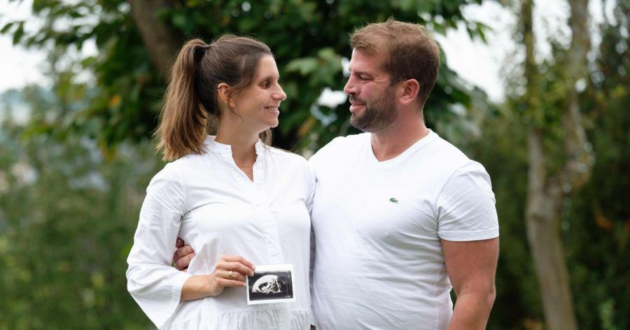 Heranwachsendes Glück: Dank einer künstlichen Befruchtung wurde Carolin Volk endlich schwanger.