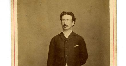 Julius Maggi, als junger Mann (ca. 1880).