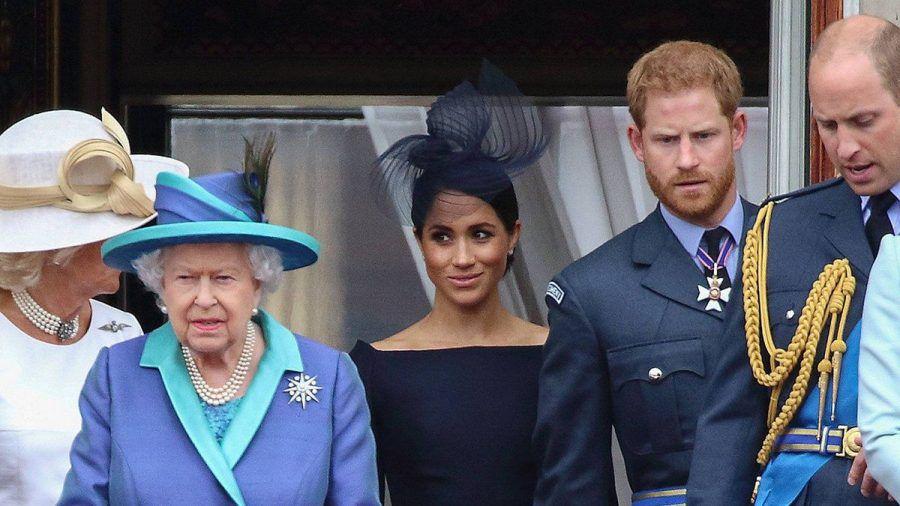 Die Queen bei einem Auftritt mit Herzogin Meghan und Prinz Harry. (hub/spot)