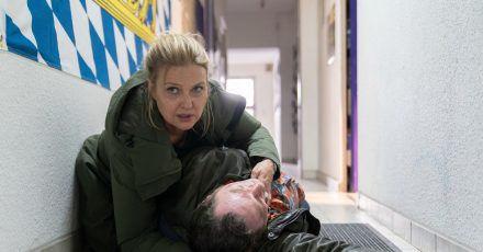 Kommissar Paul Böhmer (Jürgen Tonkel) hat sich in Gefahr begeben - kann Vera (Katharina Böhm) ihn retten.