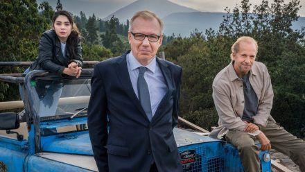 Tamara Romera Ginés, Ludger Pistor und Jochen Horst ermitteln bald gemeinsam auf Teneriffa. (aha/spot)