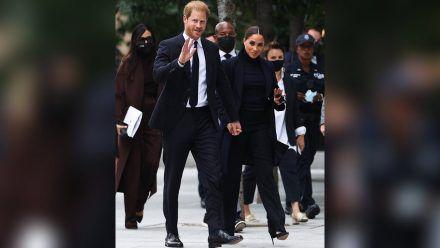 Prinz Harry und Herzogin Meghan bei ihrem Besuch in New York. (kms/spot)