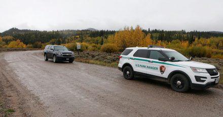 Ein Fahrzeug der U.S. Park Ranger östlich des Grand-Teton-Nationalparks, wo die Leiche von Gabby Petito gefunden wurde.