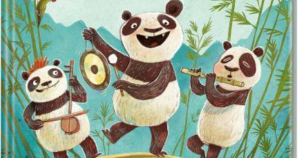 """«Panda-Pand» von Sasa Staniši?. Das Buch erscheint im Carlsen-Verlag. (zu dpa """"Staniši? lässt in neuem Kinderbuch Pandabären auf Bambus «pflöten"""")"""