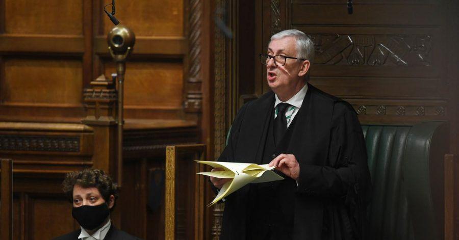 Sir Lindsay Hoyle meldet sich zu Wort.