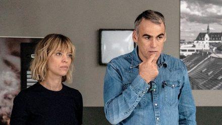 "Ellen Berlinger (Heike Makatsch) und Martin Rascher (Sebastian Blomberg) wissen im neuen ""Tatort: Blind Date"" nicht weiter. (amw/spot)"