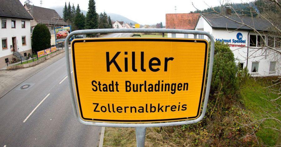 Die Ortstafel des Dorfes Killer.