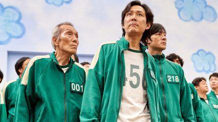 Von links: Oh Young-Soo als Oh Il-Nam, Jung-jae Lee als Seong Gi-Hun und Park Hae-Soo als Cho Sang-Woo. (ncz/spot)