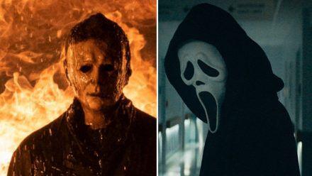 Brüder im kranken Geiste: Michael Myers (l.) und Ghostface morden am liebsten mit dem Messer. (stk/spot)