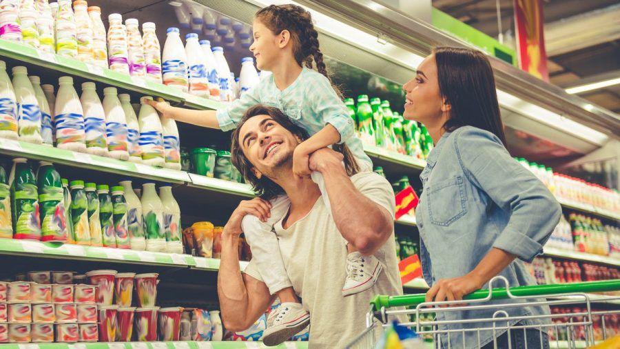 Nach oben und unten schauen macht beim Einkaufen durchaus Sinn. (mia/spot)