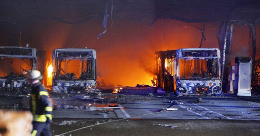 Am Abend ist es zu einem Brand im Busdepot der Stuttgarter Verkehrsbetiebe gekommen.