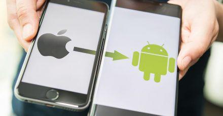Aus Apfel wird Robo: Der Wechsel vom iPhone zu einem Android-Smartphone ist kein Hexenwerk, aber man sollte vorbereitet sein.