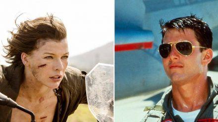 """Bei den Dreharbeiten zu """"Resident Evil: The Final Chapter"""" (l.) und """"Top Gun"""" kam es zu tödlichen Unfällen. (aha/spot)"""
